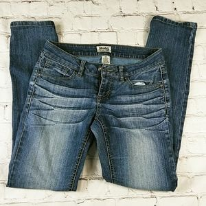 Mudd Blue Jean Denim Junior Pant Bottoms 3 Skinny
